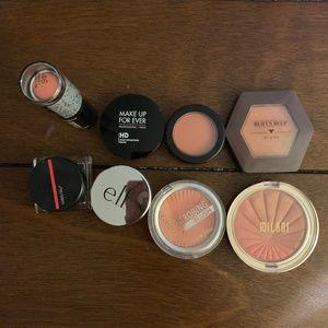Bundle of 8 Cream & Powder Blushes: MUFE, Shiseido